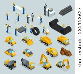set isometric 3d icons for...