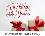 sparkling new years phrase word | Shutterstock . vector #535154473