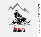snowmobile logo template ... | Shutterstock .eps vector #535159477