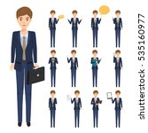 set of business man character... | Shutterstock .eps vector #535160977