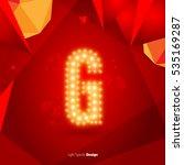 golden glowing vector font on... | Shutterstock .eps vector #535169287