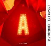 golden glowing vector font on...   Shutterstock .eps vector #535169377