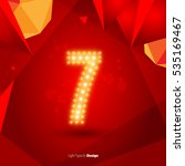 golden glowing vector number on ... | Shutterstock .eps vector #535169467