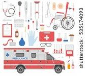 medicine equipment | Shutterstock .eps vector #535174093