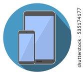 mobile phone  tablet computer... | Shutterstock .eps vector #535174177