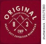 original outdoor print for t... | Shutterstock .eps vector #535175383