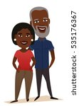 happy black middle aged couple...   Shutterstock .eps vector #535176367