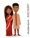 happy indian young family... | Shutterstock .eps vector #535176397