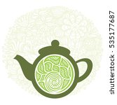 green tea. vector illustration. | Shutterstock .eps vector #535177687