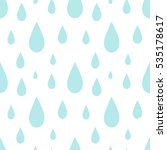 blue rain drops seamless... | Shutterstock .eps vector #535178617