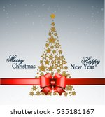 christmas tree from beautiful... | Shutterstock . vector #535181167