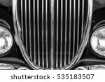 vintage car detail with black... | Shutterstock . vector #535183507