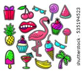 embroidery tropical fashion... | Shutterstock .eps vector #535194523