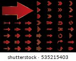 arrow vector red curve line up... | Shutterstock .eps vector #535215403
