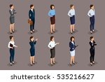 isometric set of elegant... | Shutterstock .eps vector #535216627