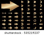 arrow vector gold curve line up ... | Shutterstock .eps vector #535219237