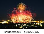 beautiful firework display for... | Shutterstock . vector #535220137