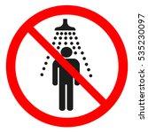 no shower sign | Shutterstock .eps vector #535230097