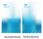 set of 2 abstract eps10 vector... | Shutterstock .eps vector #535233103