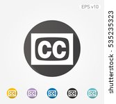colored icon of subtitles... | Shutterstock .eps vector #535235323