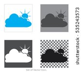 sun with cloud set icons with...
