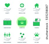 charity vector icons set | Shutterstock .eps vector #535258087