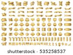 label ribbon banner gold vector ... | Shutterstock .eps vector #535258537