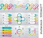 set with infographics. data and ... | Shutterstock .eps vector #535266277