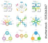 set with infographics. data and ... | Shutterstock .eps vector #535266367