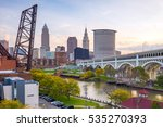 view of downtown cleveland... | Shutterstock . vector #535270393
