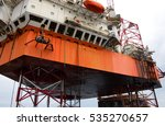 offshore oil rig drilling... | Shutterstock . vector #535270657