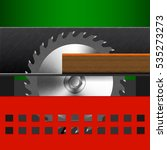 icon woodworking circular saw ... | Shutterstock .eps vector #535273273