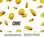 gold coin seamless pattern....   Shutterstock .eps vector #535277023