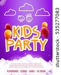 kids party art flyer design.... | Shutterstock .eps vector #535277083
