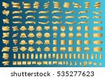 banner ribbon label gold vector ... | Shutterstock .eps vector #535277623