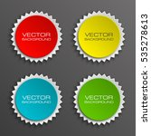 set special round offer sticker ... | Shutterstock .eps vector #535278613