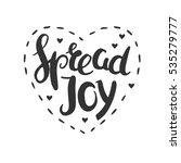 spread joy christmas lettering... | Shutterstock .eps vector #535279777