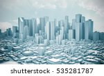 City Skyline 3d Rendering