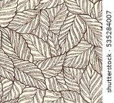 elegant seamless pattern leaves ...   Shutterstock .eps vector #535284007