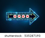 arrow light neon sign billboard.... | Shutterstock .eps vector #535287193
