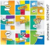 cartoon comic book template  | Shutterstock . vector #535294147