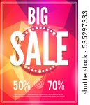 sale poster template. colorful... | Shutterstock .eps vector #535297333