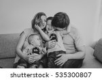 a family. mom  dad  newborn and ...   Shutterstock . vector #535300807