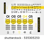 yellow linear infographic... | Shutterstock .eps vector #535305253