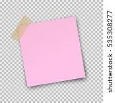 paper sheet  on translucent... | Shutterstock .eps vector #535308277