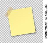 post note paper sticker... | Shutterstock .eps vector #535308283