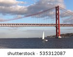 famous 25 de abril bridge over... | Shutterstock . vector #535312087