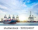 logistics and transportation of ... | Shutterstock . vector #535314037