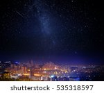 city landscape at nigh with sky ... | Shutterstock . vector #535318597