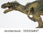 Small photo of Deadly allosaur on white background